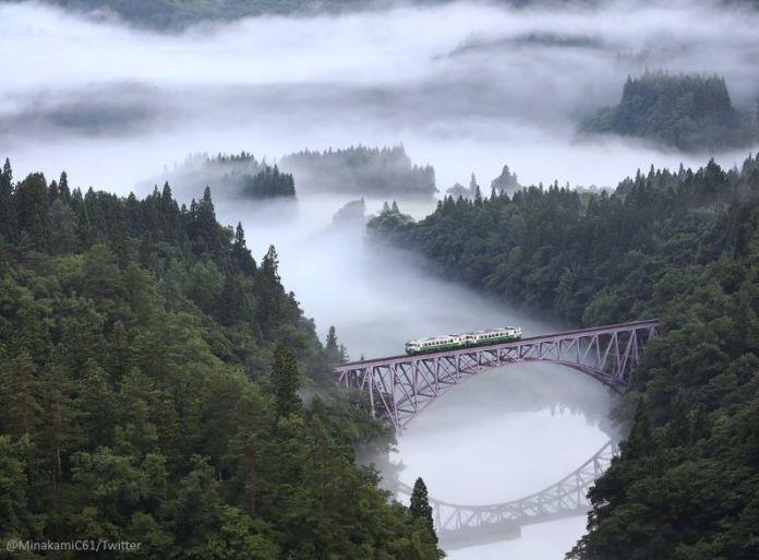 Línea Tadami. Tohoku. Prefectura de Fukushima. Verano