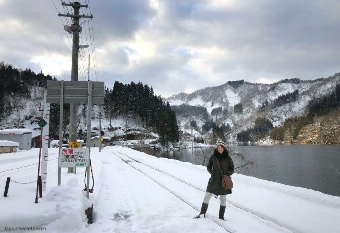 Aizu Kawaguchi (línea Tadami). Fukushima. Japón