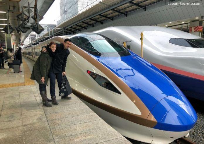Shinkansen. Estación de Tokio.