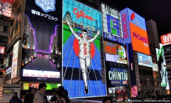 Viajar a Osaka: cartel de Glico (Dotonbori, Namba)