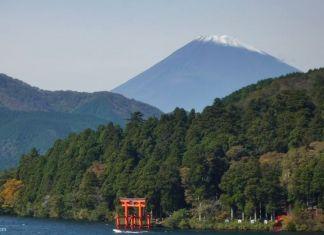 Cumplir el sueño de subir el Monte Fuji (Japón). Foto del Monte Fuji visto desde el lago Ashi