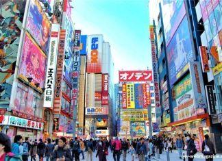 Calle principal del barrio de Akihabara (Tokio, Japón)