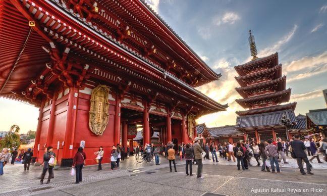 Templo Sensoji. Barrio de Asakusa (Tokio, Japón)