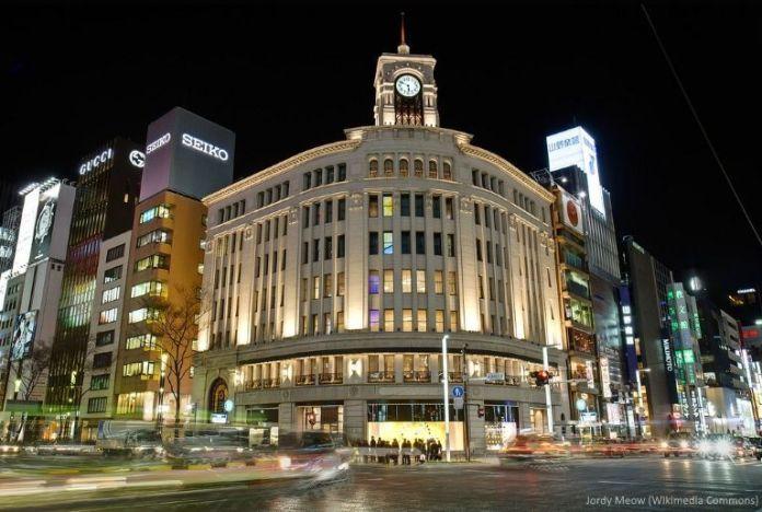 Edificio Wako. Barrio de Ginza (Tokio, Japón)