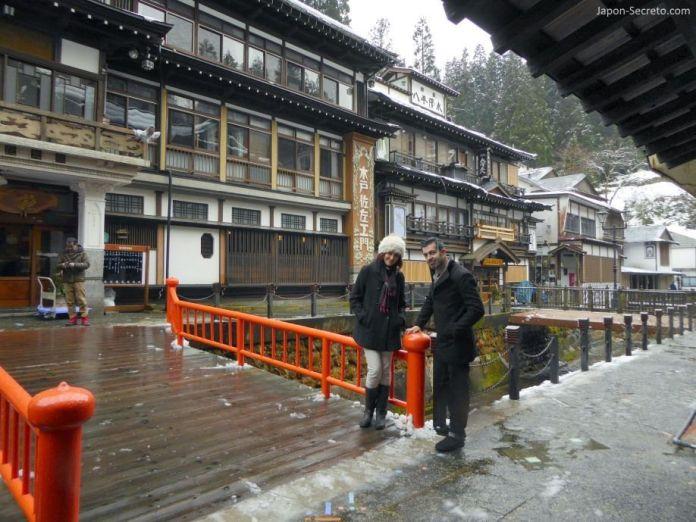 """Ginzan Onsen (銀山温泉): Notoya Ryokan (能登屋旅館), lugar que sirvió de inspiración para la película """"El Viaje de Chihiro"""" (千と千尋の神隠し)"""