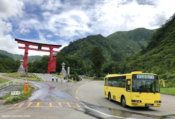 Japón. Ruta de peregrinación Dewa Sanzan. Monte Yudono (Yudonosan). Transporte. Cómo llegar. Autobús