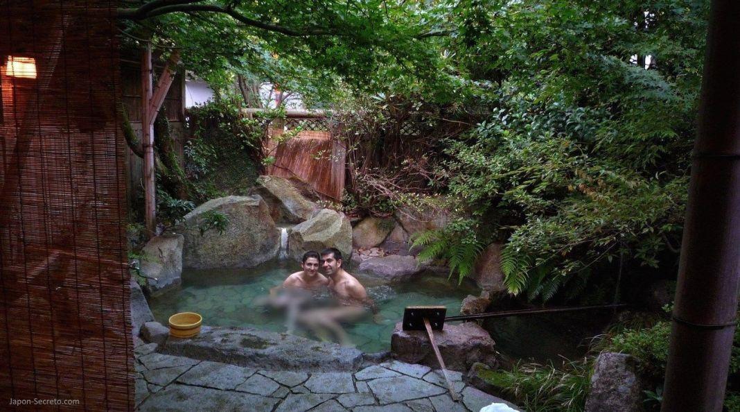 Onsen en Japón. Baño rotenburo kashikiri (貸し切り) o reservado.