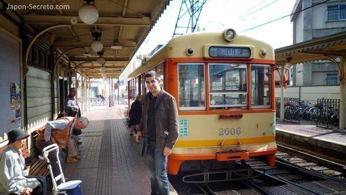 Tranvía de Matsuyama. Estación de Dogo Onsen.