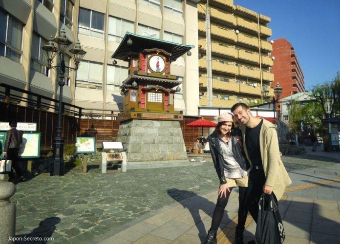 Viajar a Shikoku. Dogo Onsen (Matsuyama, Ehime). Reloj Botchan Karakuri