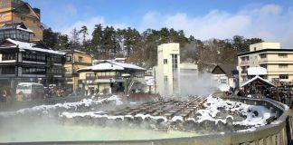 El Yubatake. Viajar a Kusatsu Onsen e invierno, el pueblo balneario más famoso e importante de Japón