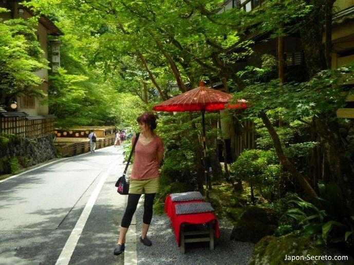 Excursión a Kibune (Kioto) en verano.