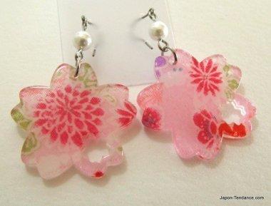 Boucles d'oreilles Grand sakura (Fleur de cerisier)