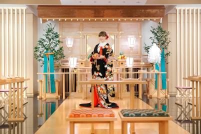 Kimono Experience in Japanese wedding chapel (1)