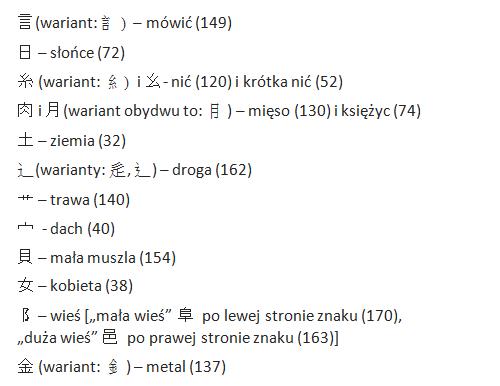 najczęstsze pierwiastki - japonia-info.pl