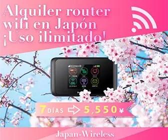 Internet ilimitado de alta velocidad en Japón con Japan Wireless