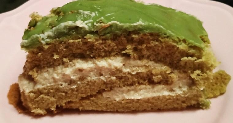 [Recette] Gâteau roulé, crème marrons et glaçage matcha