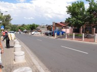 A now fancier street in Soweto, where both Mandela's and Tutu's house are located.