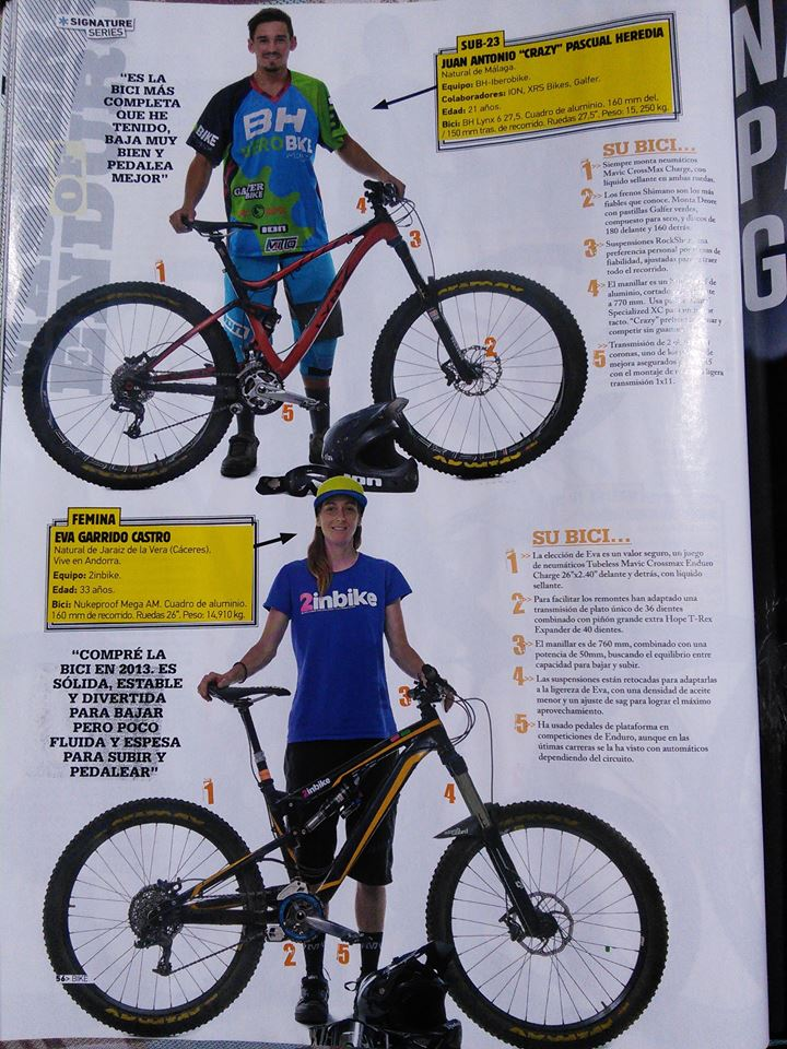 Eva Garrido en la revista BIKE