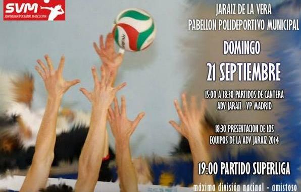 Partido amistoso de Voleibol entre A.D. Cáceres vs Voley Playa de Madrid