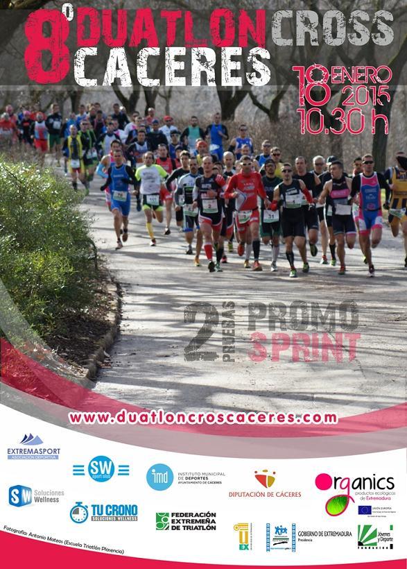 Cartel oficial del 8º Duatlón Ciudad de Cáceres