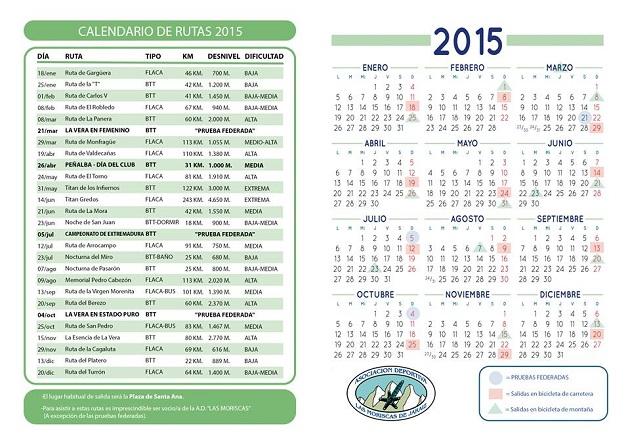 Calendario AD Las Moriscas