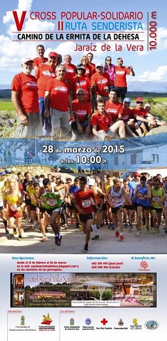 Cartel V Cross Popular Solidario y II Ruta Senderista 2015 - Camino de la Ermita