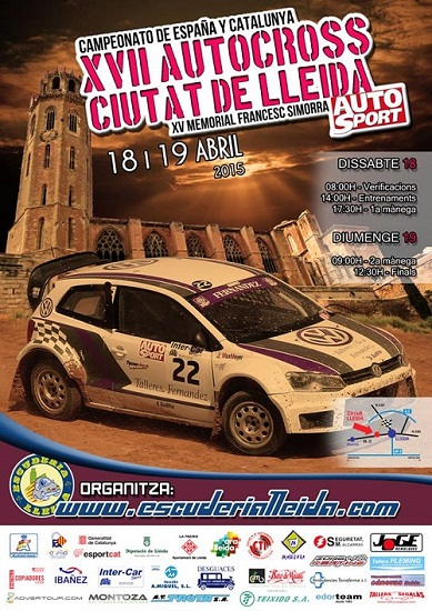 Cartel - XVII Autocross Ciutat de Lleida