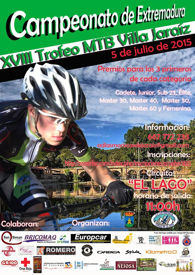 Jaraíz acogerá un año más el Campeonato de Extremadura de XCO - XVIII Trofeo MTB Villa Jaraíz