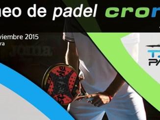 Torneo de Pádel - Deportes Cronos y TibuPadel