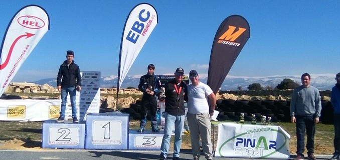 Caballero vencedor del I Slalom de Kartpetania en Segovia