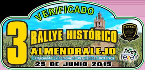 Placa III Rallye Histórico de Almendralejo