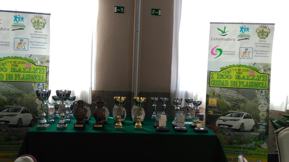 Trofeos del I Eco Rallye Ciudad de Plasencia