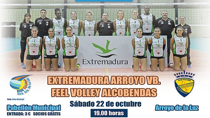 El Extremadura Arroyo recibe al Feel Volley Alcobendas