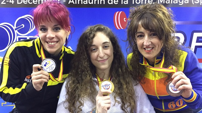 Loida Zabala gana la Copa de Europa de Powerlifting