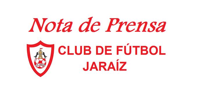 Nota de Prensa del Club de Fútbol Jaraíz