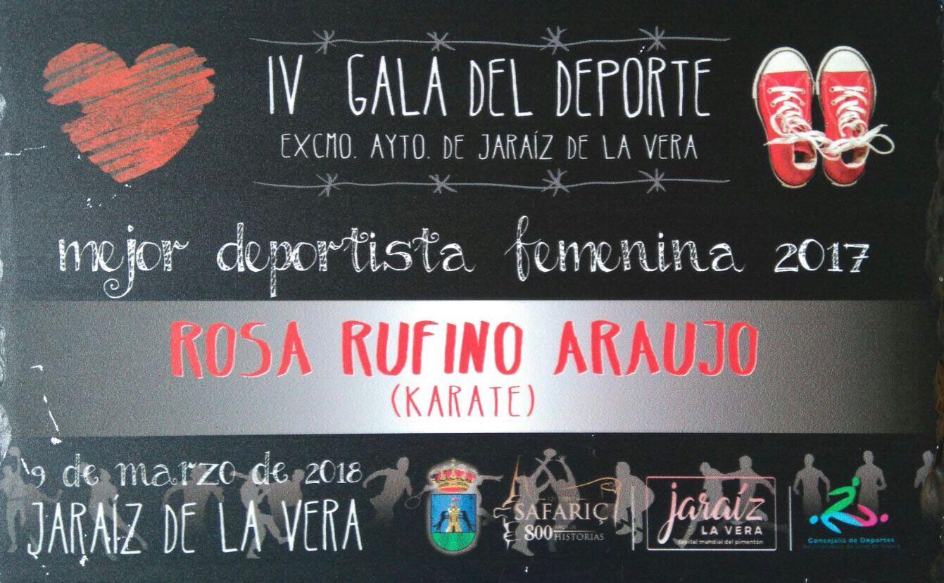 Rosa Rufino Araujo - Club Karate Jaraíz