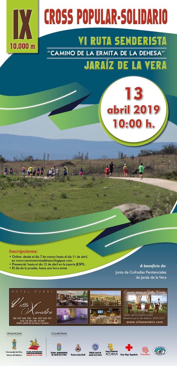 Cartel IX Cross Popular Solidario 2019
