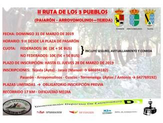 II Ruta de los tres Pueblos - PASARÓN - ARROYOMOLINOS - TEJEDA