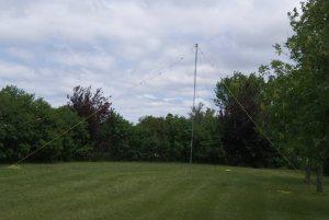 Fan Dipole deployed on Field Day 2017