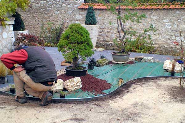 Pose Jardin Mineral
