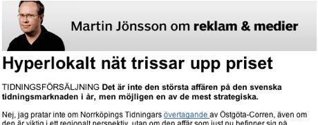 Martin Jönsson i Mindpark-soffan