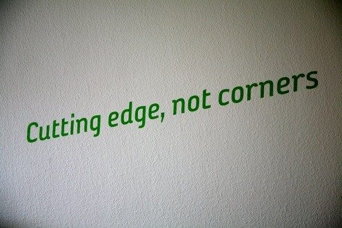 Cutting edge, not corners