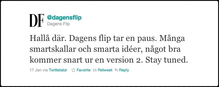 Dagens Flip – ett nytt sätt att få koll på svenska nyheter