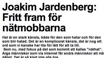 jardenberg kommenterar – 24 Jan, 2011 #jjk