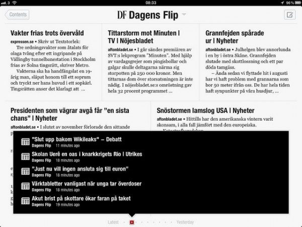 Dagens Flip (DF) innehållsförteckning