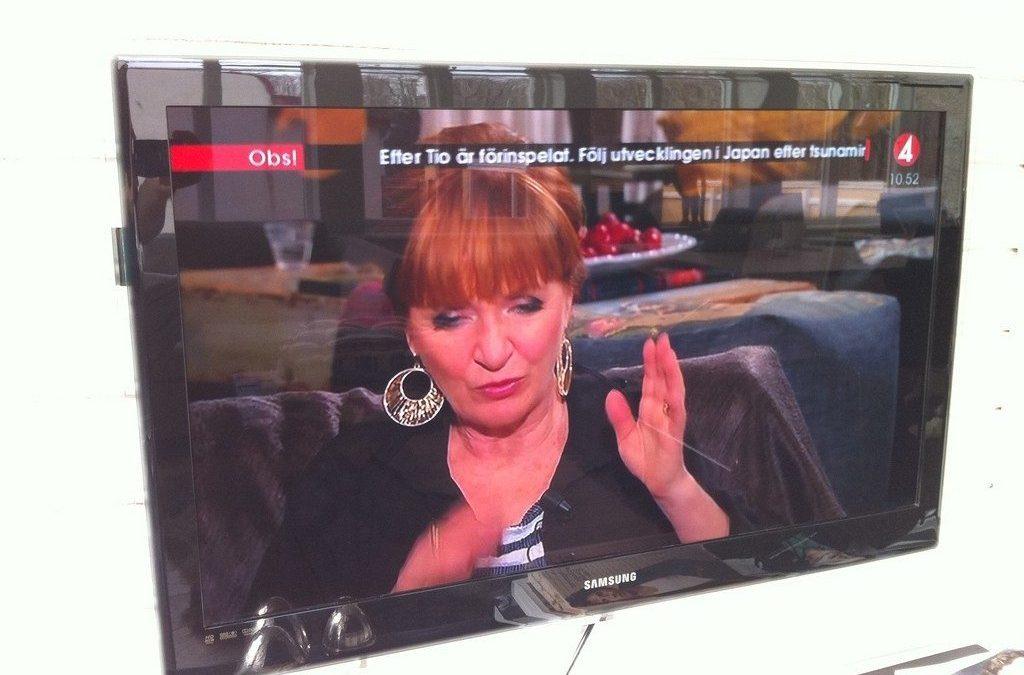 Tsunami i Japan och på TV4