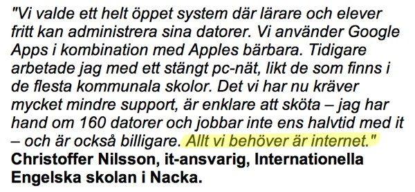 Allt vi behöver är internet