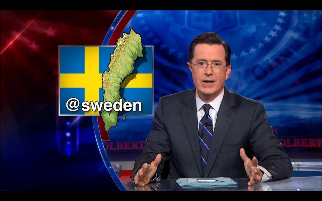 Colbert – jag älskar dig, men du är inte @sweden-material. Än…