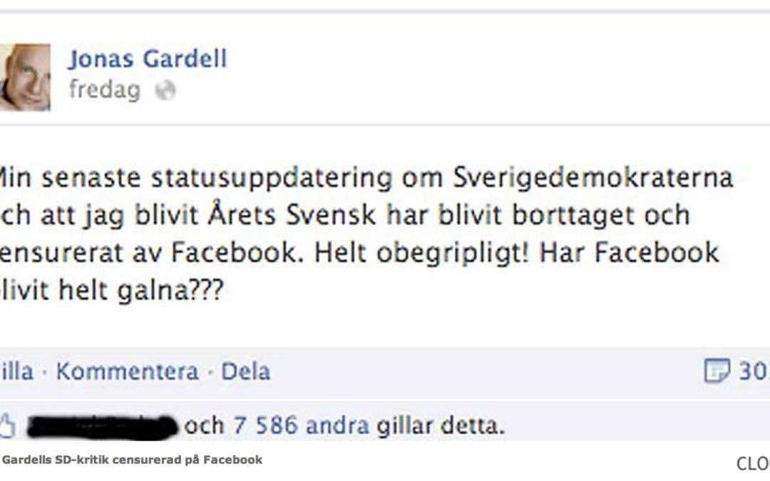 Facebook, Jonas Gardell, takhöjd och skala