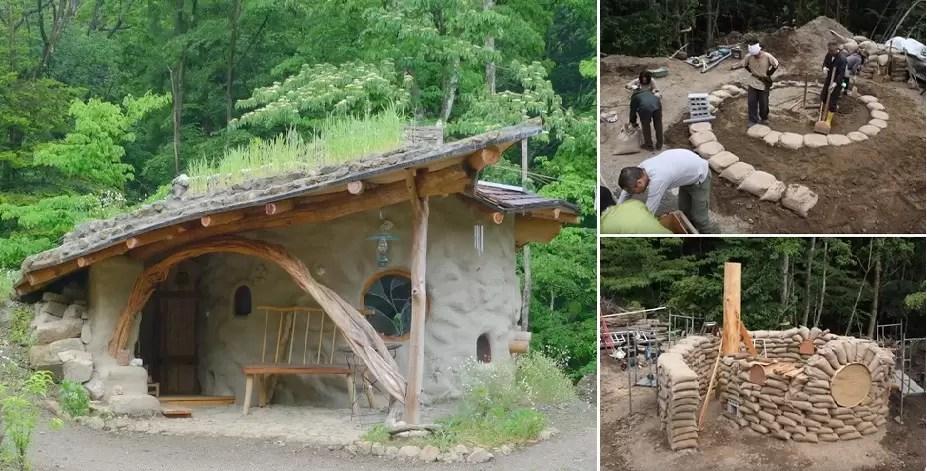 Casas a partir de sacos de terra: orgânicas em conteúdo e forma